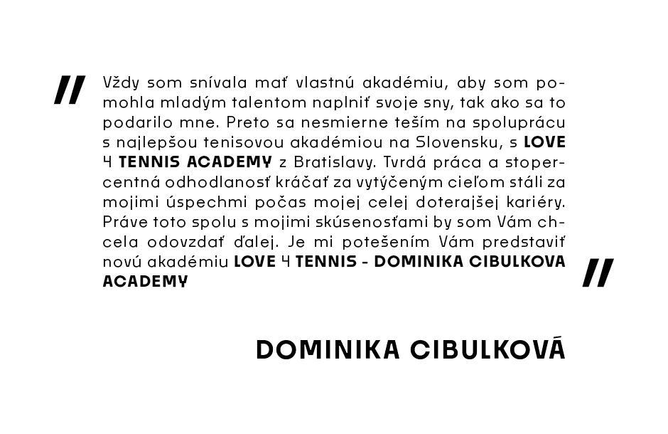 Cibulkova tennis academy