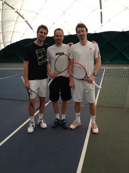 GOMBOS Norbert (103 ATP), SEKÁČ Branislav (coach), MEČÍŘ Miloslav junior (169 ATP)